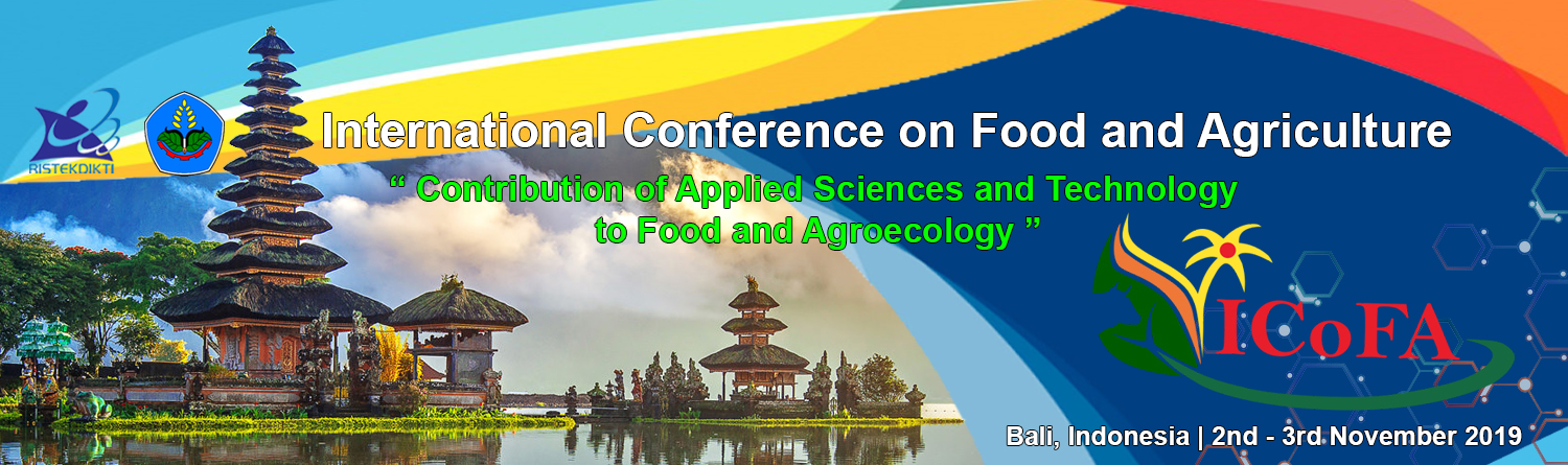 Politeknik Negeri Jember :  International Conference on Food and Agriculture (ICoFA) 2019