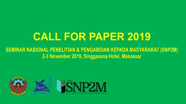 Seminar Nasional Penelitian dan Pengabdian kepada Masyarakat (SNP2M) 2019