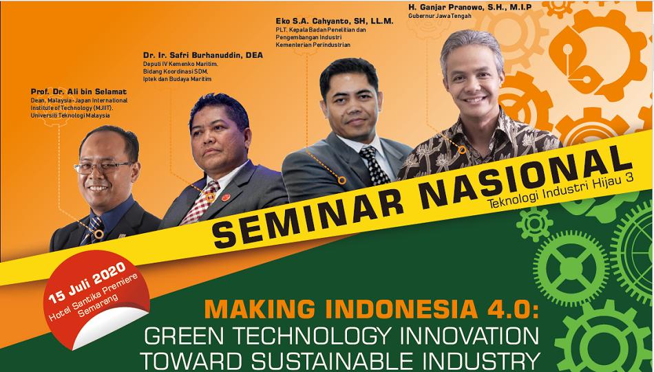 Seminar Nasional Teknologi INdustri Hijau 3 Tahun 2020