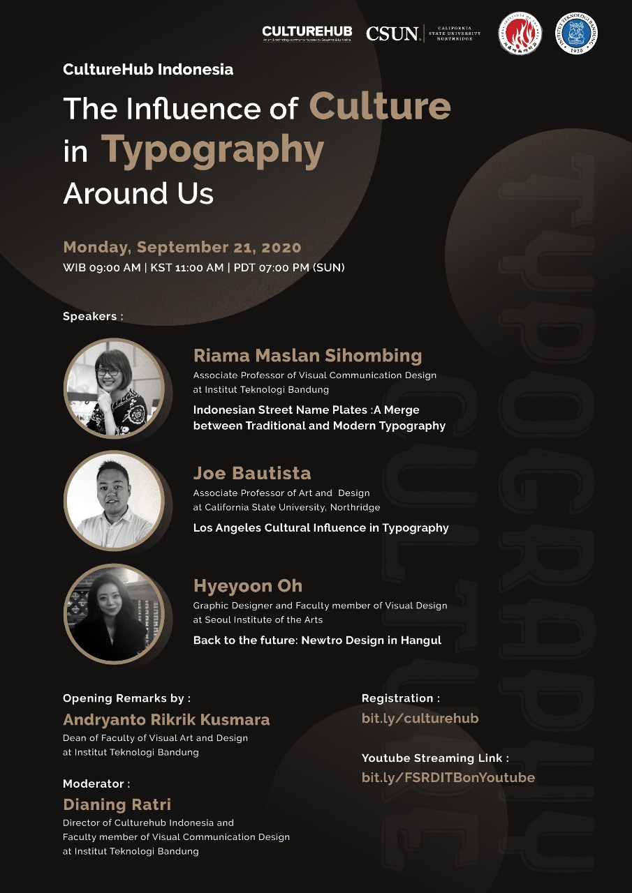 [WEBINAR ITB] The Influence of Culture in Typography Around Us (FSRD ITB)