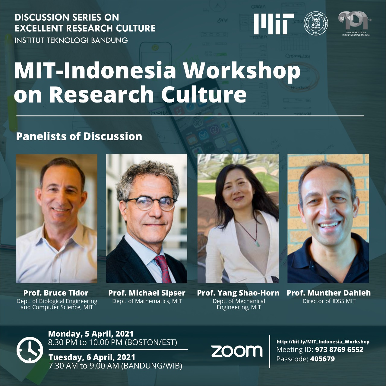 Discussion Series on Excellent Research Culture: MIT – Indonesia Workshop on Research Culture